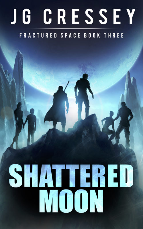 Shattered Moon (Book Two of the Fractured Space series)